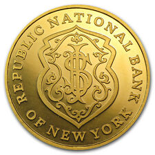 1 oz Gold Round - Republic National Bank of New York