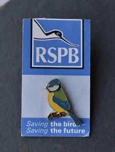 RSPB Royal Society Protection of birds pin badge charity. Blue Tit Rare