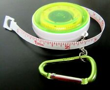 "Retractable Carabiner Clip TAPE MEASURE 60"" Locking -   Great for FISHING"