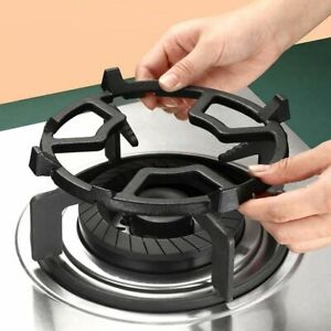 For Hobs Cooker Cast Iron Wok Stand Kitchen Tool Wok Pan Support Auxiliary Rack