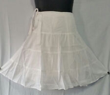 Women Clothing Wrap around short Skirt White Free Size