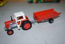 Vintage Matchbox Massey Ferguson Tractor and Trailer - K 35