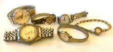 6 Beautiful Classic Vintage Antique Watches Rolex, Timex, Bulova, Waltham