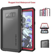 Galaxy Note 8 For Ghostek Waterproof Rugged Cover Case|Nautical Red/Black