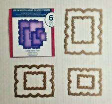 Spellbinders Nestabilities Labels Twenty-Three 6 Dies Emboss Stencil S4-347