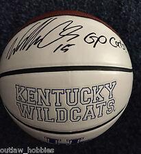 Kentucky Wildcats Willie Cauley Stein Signed Autographed NCAA Basketball COA
