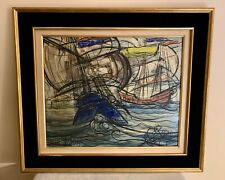 TABLEAU MARINE MODERNE Grand format  88 x 76,5 cm