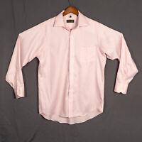 Donald J. Trump Signature Collection Mens 16 34/35 Pink Dress Shirt Non Iron