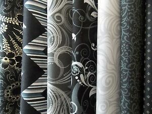 """Black and Gray Fabric 30 Piece Jelly Roll 2.5"""" x 44"""" Strips Quilt Shop Quality"""