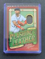 2019 Leather & Lumber OZZIE ABLIES Flashing The Leather Glove Relic Card SP /174