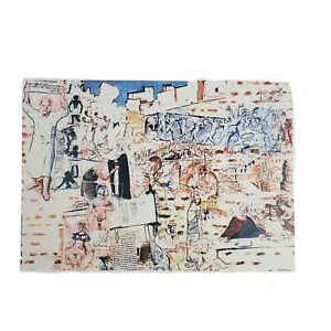 Artbook print History Of Matzoh by Larry Rivers. Story of the Jews 1982