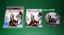 Assassin's Creed III 3 fuer Sony Playstation 3 PS3 mit Anl. und OVP