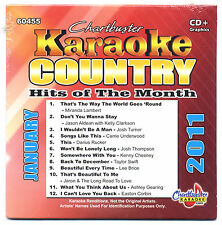 CHARTBUSTER KARAOKE CB-60455 COUNTRY HITS JAN 2011 PRODISC SERIES NEW CD+G, OOP