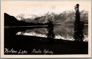 """KLUANE LAKE Yukon Canada RPPC Real Photo Postcard """"Kulane Lake - Alaska Highway"""""""