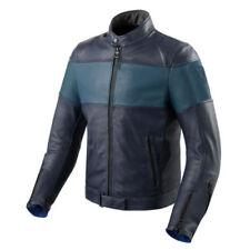 Blousons bleus en cuir pour motocyclette femme
