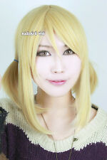 Fairy Tail Lucy Heartfilia 40cm long twin tails yellow blonde cosplay wig