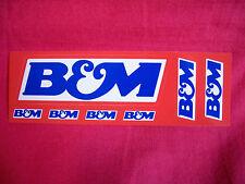 B & M Sticker Decal Hot Rods Classic Cars