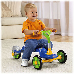 FISHER PRICE GROW WITH ME SIT TO STAND SCOOTER BLUE BOY NEW V9114