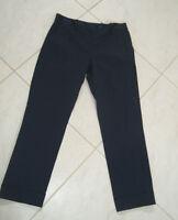 Alex Marie Womens NWT Marie Navy Straight Leg Capri Pants 4 NEW