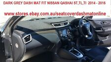 DARK GREY DASH MAT,DASHMAT,DASHBOARD COVER FIT NISSAN QASHQAI ST,TL,TI 2014-2016