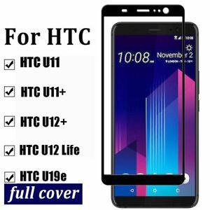 For HTC U11+ U12+ Plus U19e Full Coverage Tempered Glass Film Screen Protector