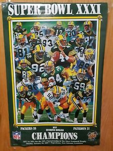 NEW Green Bay Packers Superbowl XXXI (31) Championship Poster Howard, Favre NEW