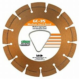 "MK Diamond Early Entry Diamond Blade 6 3/8"" Medium Aggregate"