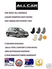 Sheepskin Car Seatcovers VW Golf, Seat Airbag Safe , 30mm TC ,Five Colours.