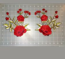 ROSE APLIQUE  FLOWER PATCH IRON