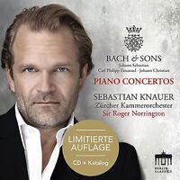 BACH&SONS-PIANO CONCERTOS-SONDEREDITION-KNAUER,SEBASTIAN CD+KATALOG   CD NEU