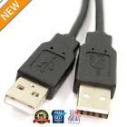 0.5m Alta Velocidad USB 2.0 Protegido MACHO A A a macho cable negro 28awg Cable
