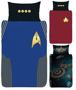 Official Star Trek Duvet Cover Single/Double Bedding Discovery Next Generation