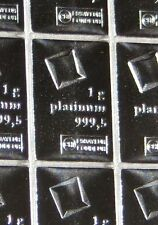 1 GRAM (1g) 999.5 FINE PLATINUM VALCAMBI SWISS BULLION BAR (NOT GOLD OR SILVER)
