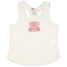Girls' No Pattern Crew Neck Sleeveless T-Shirts, Top & Shirts (2-16 Years)