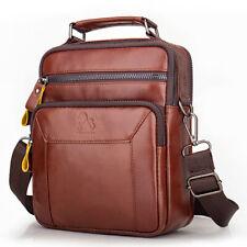 """100% Genuine Leather Men's Sling Shoulder Bag Messenger Bag 8"""" Handbag Crossbody"""