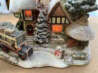 Rare Lilliput Lane - CHRISTMAS SHOPPING - 2003 ILLUMINATED cottage L2649 Winter