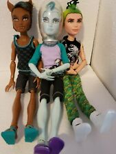 Monster High Mansters Clawd, Deuce, and Gil