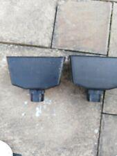 2 Black Rainwater Down Pipe Hopper