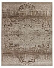 Natural Distressed Mamluk 8'x10' Antique Style Hand Knotted 100% Woolen Area Rug