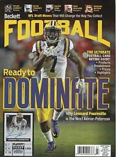 NEW CURRENT BECKETT FOOTBALL PRICE GUIDE MAGAZINE, JULY 2017 (LEONARD FOURNETTE)