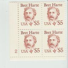 Scott 2196 1987 $5 Great Americans: Bret Harte PB4