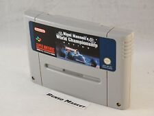 NIGEL MANSELL'S WORLD CHAMPIONSHIP RACING - SUPER NES NINTENDO SNES PAL UKV UK
