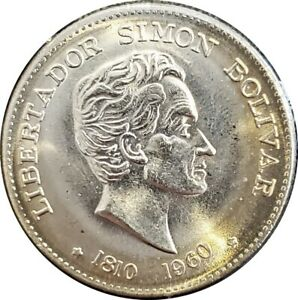COLOMBIA 50 CENTAVOS ~ 1810-1960 SESQUICENTENNIAL ~ CHOICE UNCIRCULATED COIN