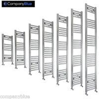 400mm Wide Designer Chrome Heated Towel Rail Radiator Ladder Straight Bathroom