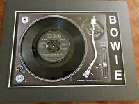 """David Bowie - John I'm only Dancing - Genuine 7"""" Single on a Record Player Print"""