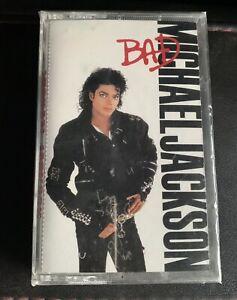 SHIPS SAME DAY Michael Jackson BAD Cassette Tape 1987 BRAND NEW SEALED
