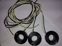 Lot of (3) Square D 2NR201L72 CURRENT TRANSFORMER, RATIO 200:5, 600V, 50-400HZ