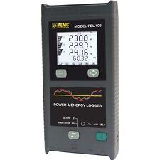 AEMC PEL 103 2137.52 Single/3-Phase Power & Energy Logger w/ LCD & 3 MA193-10-BK