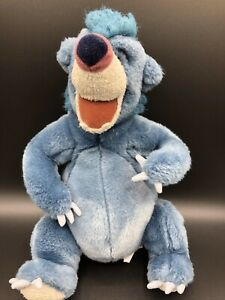 "Disney Store The Jungle Book Baloo 15"" Blue Plush Stuffed Animal Bear Toy"