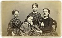 Fine CDV of Four Kiddos by Famed President Lincoln Photographer Alexander Hesler